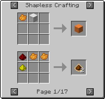 Pumpkin Pie Minecraft Recipe